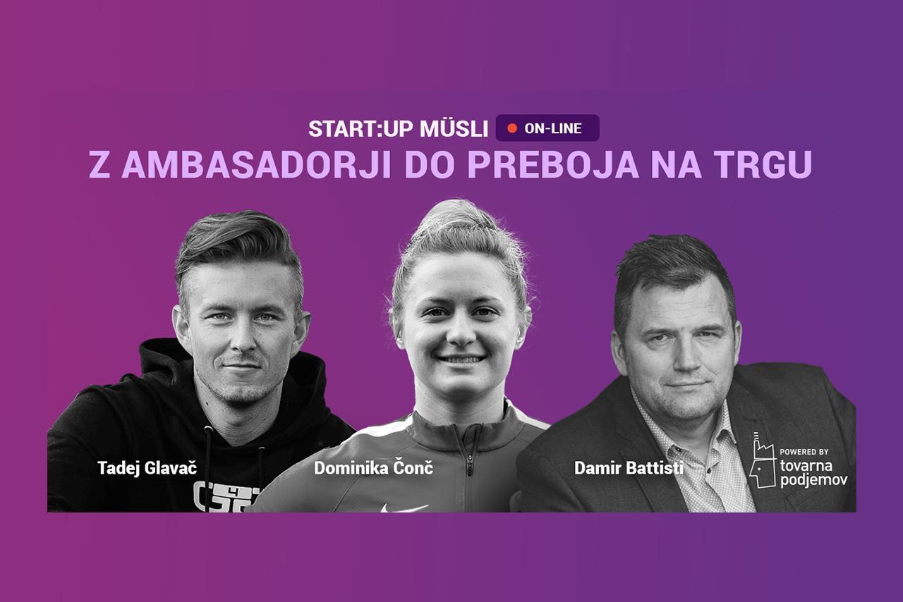 Start:up Müsli: Z ambasadorji do preboja na trgu